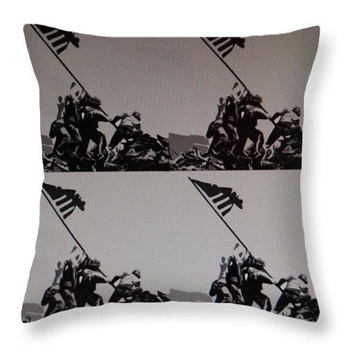 Pop Art Throw Pillow featuring the photograph Iwo Jima by Rob Hans