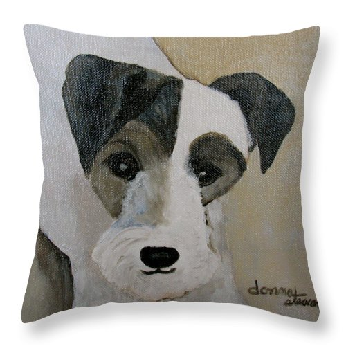 Acrylic Throw Pillow featuring the painting Jack by Donna Steward