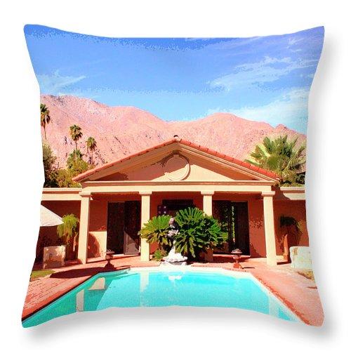 Jack Warner Estate Throw Pillow featuring the photograph Jack Warner Estate by William Dey