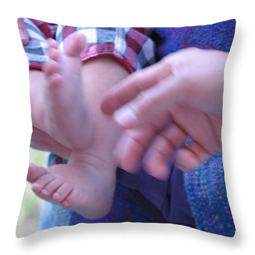 Feet Throw Pillow featuring the photograph Jack's Feet by Kelly Mezzapelle