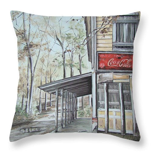 Charles Roy Smith Throw Pillow featuring the painting Jackson Springs by Charles Roy Smith