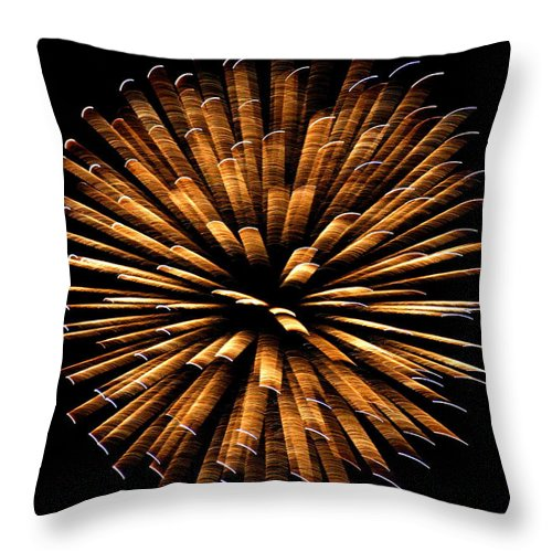 Abstract Throw Pillow featuring the photograph Jackstraws by David Dunham