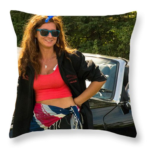 Throw Pillow featuring the photograph jag by Timoke Brown