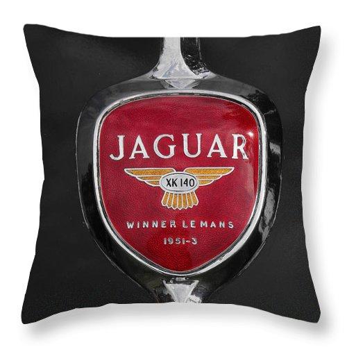Jaguar Throw Pillow featuring the photograph Jaguar Medallion by Neil Zimmerman