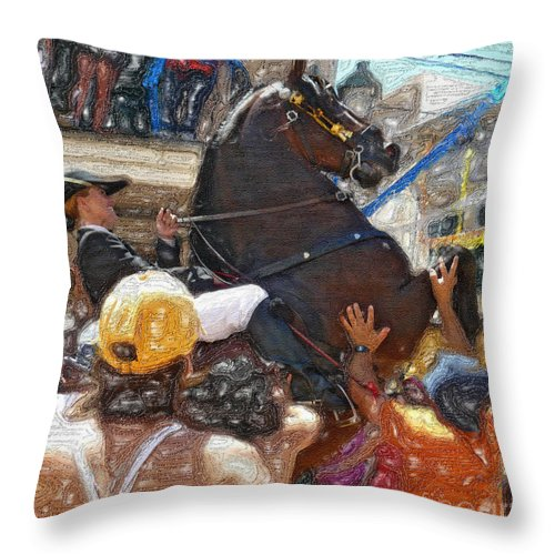 Jaleo Throw Pillow featuring the photograph Jaleo by Dee Flouton