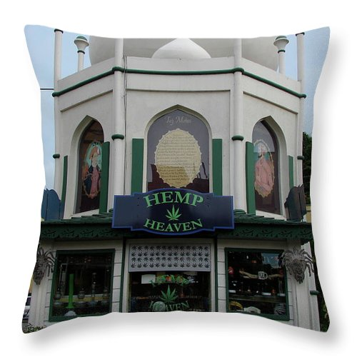Jamaica Throw Pillow featuring the photograph Jamaica Hemp Heaven by Brett Winn