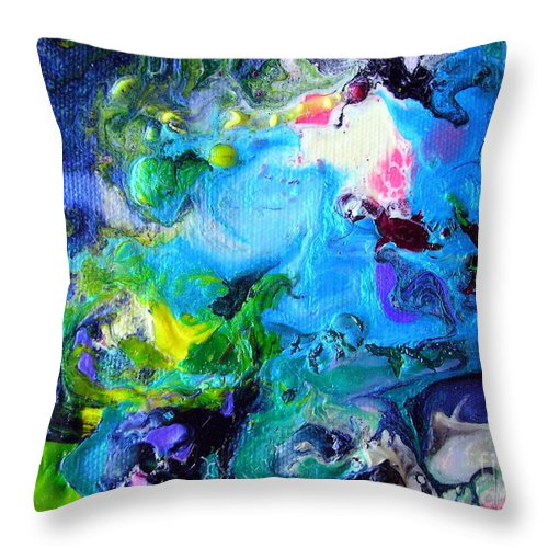 Art Throw Pillow featuring the painting Jamaica Nights by Dawn Hough Sebaugh