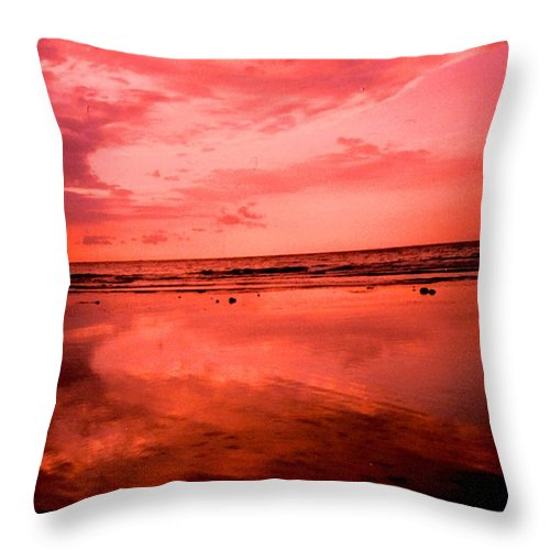 Sunset Throw Pillow featuring the photograph Jamaica Sunset by Ian MacDonald