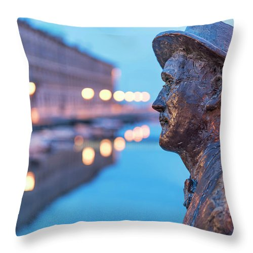 Cities Throw Pillow featuring the photograph James Joyce by Videophotoart Com
