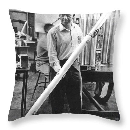 20th Century Throw Pillow featuring the photograph James Van Allen (1914-2006) by Granger