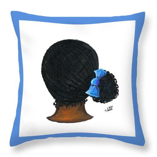 Naturally Me Kidz Throw Pillow featuring the painting Jamie by Sonja Griffin Evans