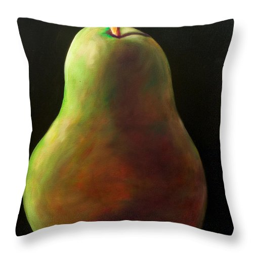 Pear Throw Pillow featuring the painting Jan by Shannon Grissom
