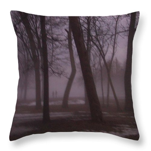 January Throw Pillow featuring the photograph January Fog 1 by Anita Burgermeister