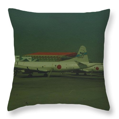 Airplane Throw Pillow featuring the photograph Japanese Airforce by Rob Hans