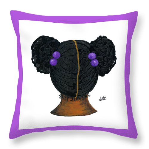 Naturally Me Kidz Throw Pillow featuring the painting Jazmine by Sonja Griffin Evans