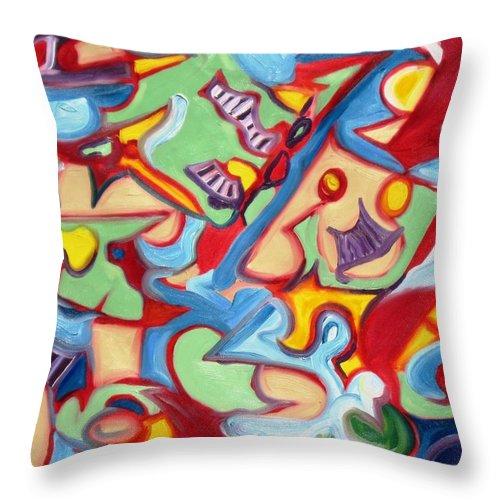 Jazz Throw Pillow featuring the painting Jazz by Artist Alfredo Dane Llana