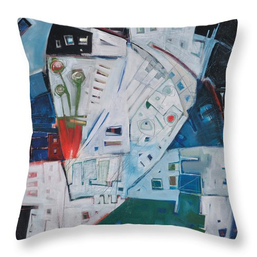 Jazz Throw Pillow featuring the painting Jazz In Bloom by Tim Nyberg