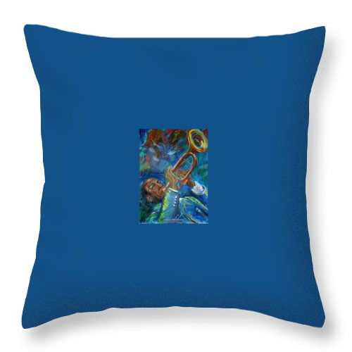 Jazz Throw Pillow featuring the painting Jazz Man by Regina Walsh