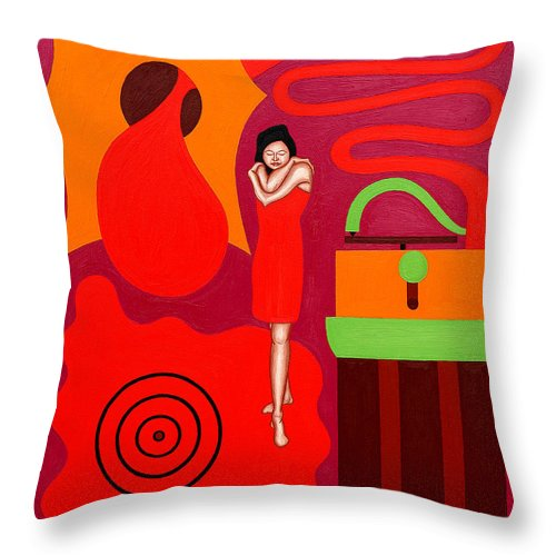 Valentine Throw Pillow featuring the painting Jazz by Patrick J Murphy