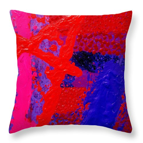 Abstract Throw Pillow featuring the painting Jazz Process Vi by John Nolan