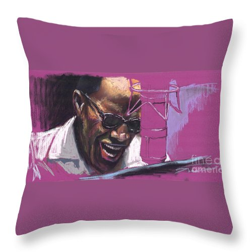 Jazz Throw Pillow featuring the painting Jazz Ray by Yuriy Shevchuk