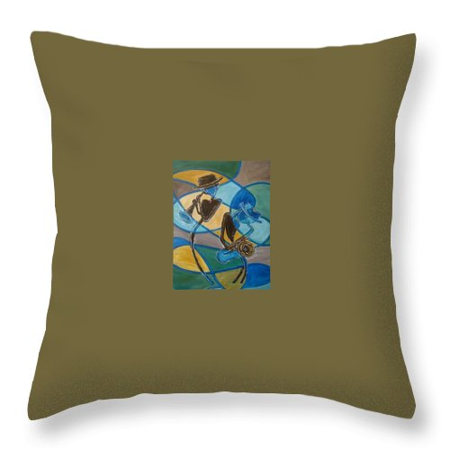 Jazz Throw Pillow featuring the painting Jazz Raz by Regina Walsh