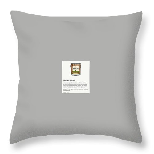 Benjamin Moore Throw Pillow featuring the digital art Jc Licht Arborcoat Solid Stain by Jc Licht