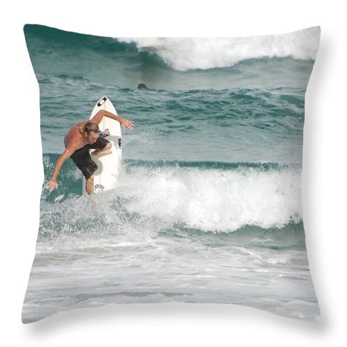 Ocean Throw Pillow featuring the photograph Jeff Spicolli by Rob Hans