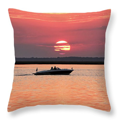 Sunset Throw Pillow featuring the photograph Jeffers One by John Loreaux