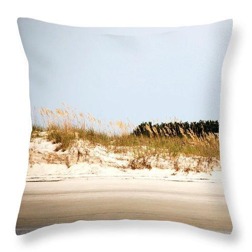 Jekyll Island Throw Pillow featuring the photograph Jekyll From The Water by Katherine W Morse