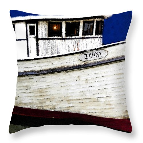 Art Throw Pillow featuring the painting Jenny by David Lee Thompson