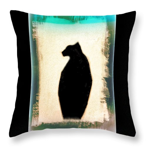 Cat Throw Pillow featuring the photograph Jerry by J Durr Wise