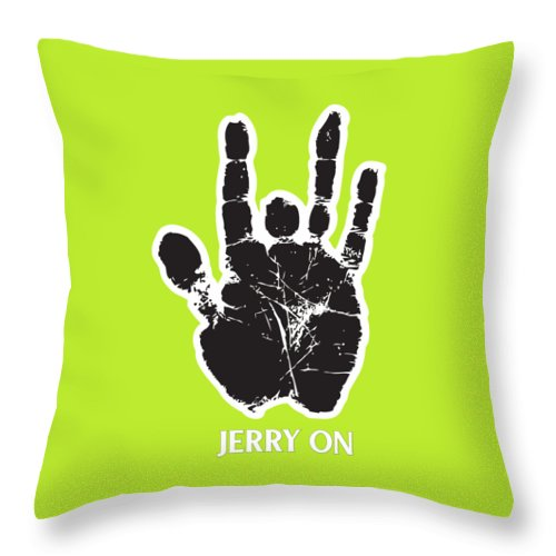 Grateful Dead Throw Pillow featuring the digital art Jerry On by Senior gd