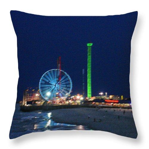Landscape Throw Pillow featuring the digital art Jersey Shore by Steve Karol