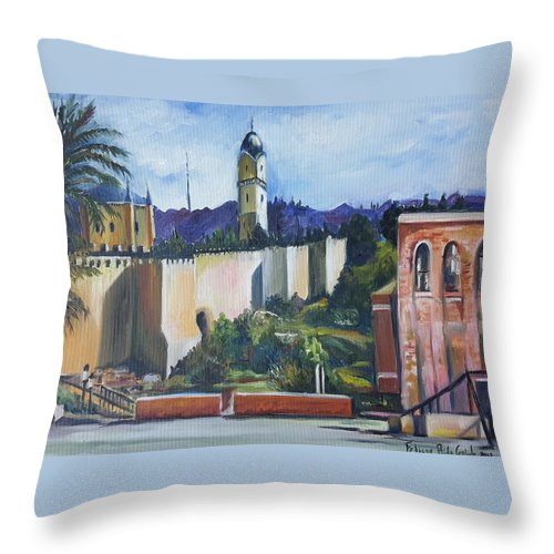 Painting Throw Pillow featuring the painting Jerusalem by Rita Fetisov