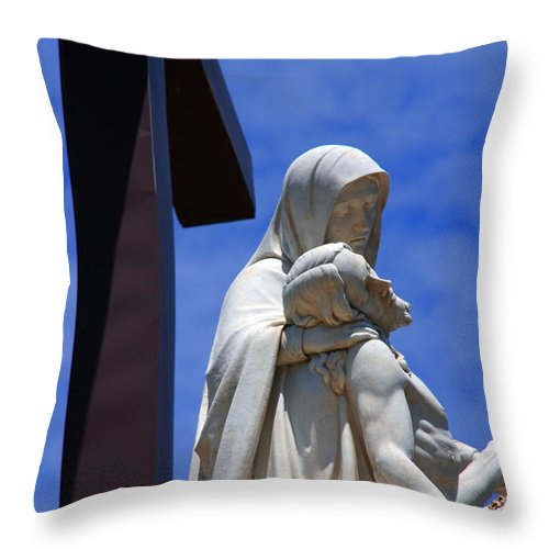 Jesus And Maria Throw Pillow featuring the photograph Jesus And Maria by Susanne Van Hulst