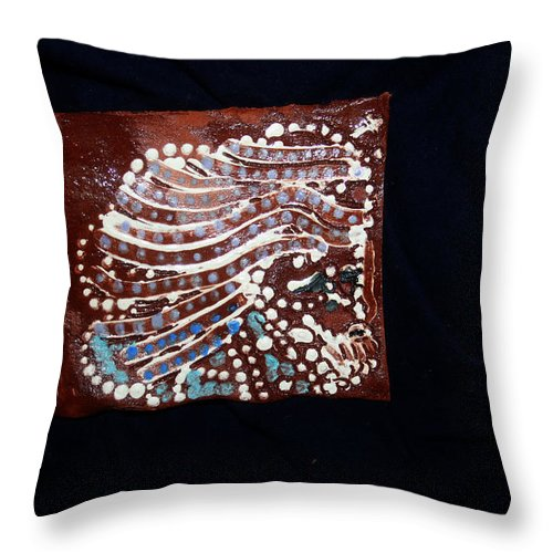 Godly Throw Pillow featuring the ceramic art Jesus Gethsemane Retold by Gloria Ssali