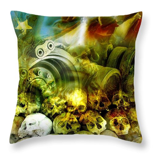Jesus Throw Pillow featuring the photograph Jesus Wept by Skip Hunt