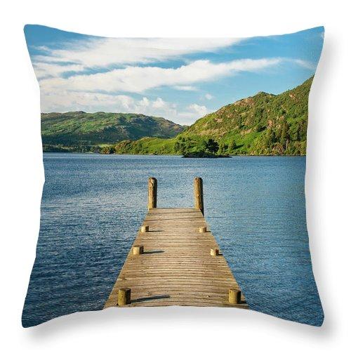 Pier Throw Pillow featuring the photograph Jetty by Julian Regan
