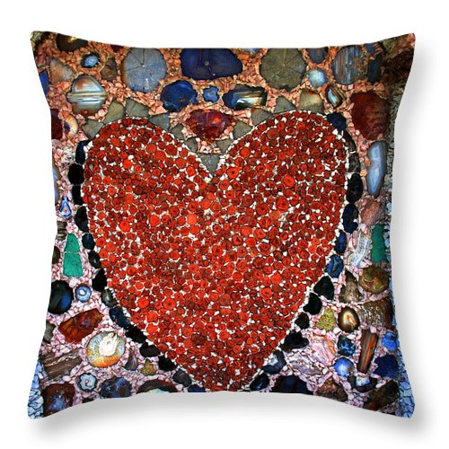 Jewel Heart Throw Pillow featuring the photograph Jewel Heart by Susanne Van Hulst