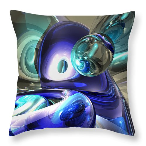 3d Throw Pillow featuring the digital art Jewel Of The Nile Abstract by Alexander Butler