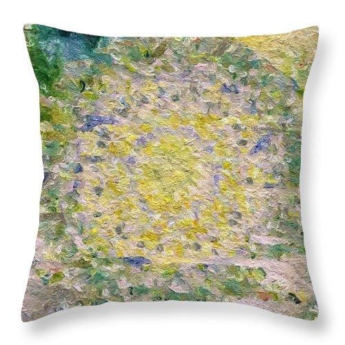 Abstract Throw Pillow featuring the photograph Jewel by Rita Koivunen
