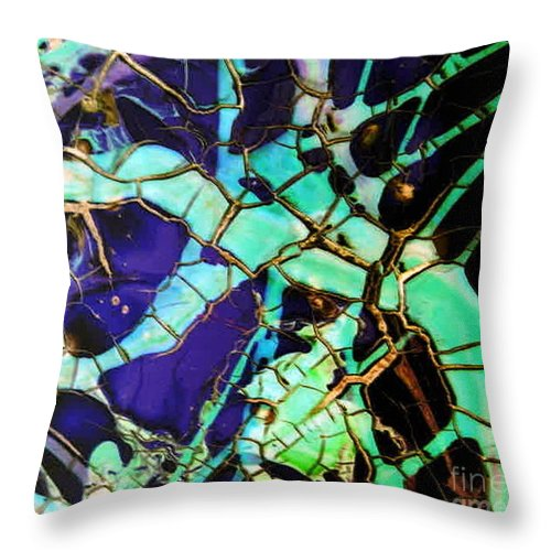 Jewels Throw Pillow featuring the painting Jewels by Dawn Hough Sebaugh
