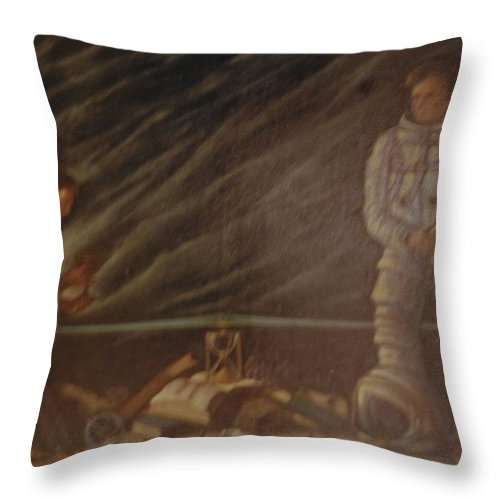 Jesus Throw Pillow featuring the photograph Jews In Space by Rob Hans