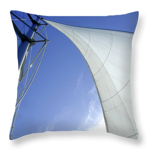 Oriental Throw Pillow featuring the photograph Jib by Gary Adkins