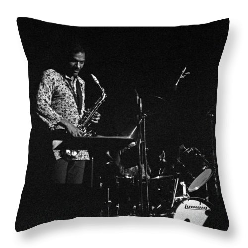 Jimmy Lyons Throw Pillow featuring the photograph Jimmy Lyons by Lee Santa