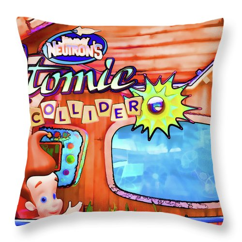 Jimmy Neutron's Attomic Collider Throw Pillow featuring the painting Jimmy Neutron's Attomic Collider by Jeelan Clark