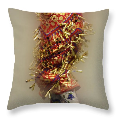 Pow Wow Throw Pillow featuring the photograph Pow Wow Jingle Dancer 6 by Bob Christopher