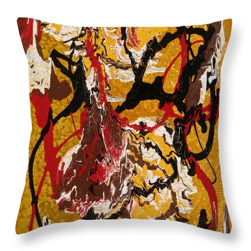 Abstract Art Throw Pillow featuring the painting Joe Sweet by Jill English
