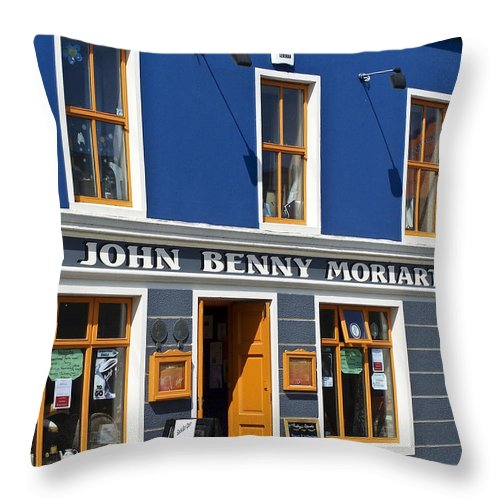 Irish Throw Pillow featuring the photograph John Benny by Teresa Mucha